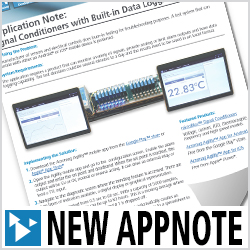 Application Note: How to Use Signal Conditioners with Built-in Data Logging
