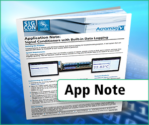 Signal Conditoiners with built-in data logging application note