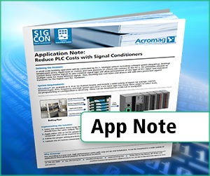 Reduce PLC costs with signal conditioners application note