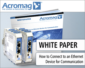 How To Connect To An Ethernet Device For Communication Whitepaper
