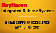 Raytheon 5 Star Supplier Excellence Award