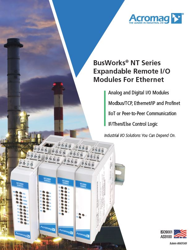 BusWorks NT Series Brochure Cover