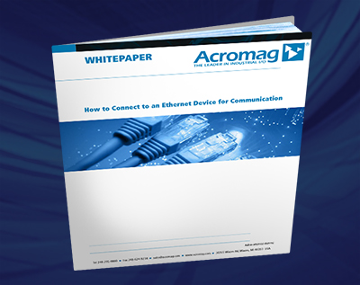 How To Connect To An Ethernet Device For Communication White Paper