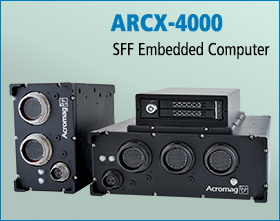 The ARCX4000 Series is a powerful embedded SFF computing platform featuring an Intel® i7 COM Express Type 6 processor.