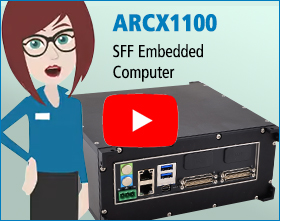 The ARCX1100 is optimized for size, weight, power, and cost (SWaP-C) with a COM Express Type 10 CPU.