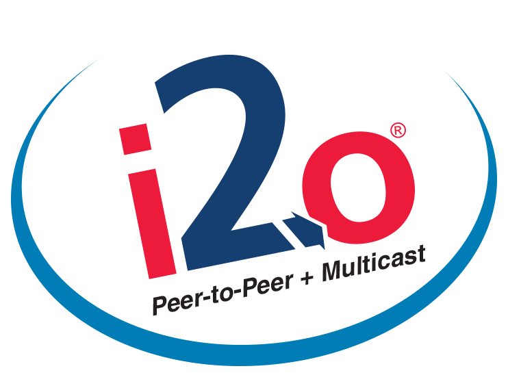 i2o Peer-to-Peer + Multicast Logo